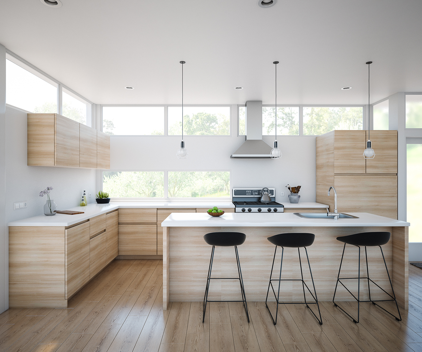25 White And Wood Kitchen Ideas: Auckland Kitchens, New Zealand